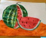 Рисование арбуз в старшей группе – . . , — .