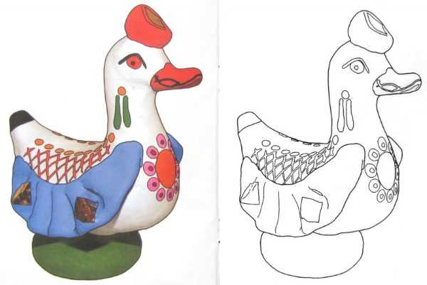 Игрушки дымковские раскраски – Раскраска Дымковская Игрушка