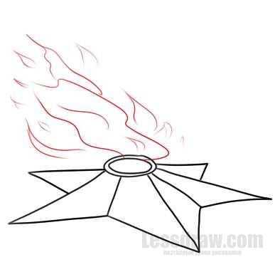 рисунок вечный огонь поэтапно учимся рисовать карандашом